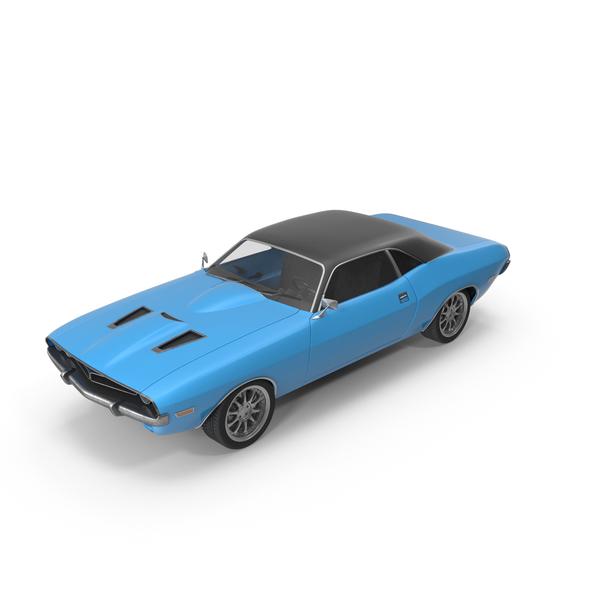 Retro Car Blue PNG & PSD Images