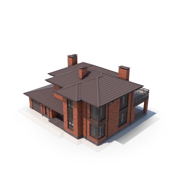 Red Brick Villa PNG & PSD Images