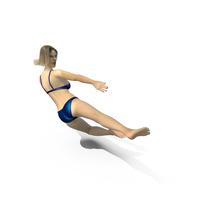 Swimsuit Girl Ninja Kick PNG & PSD Images