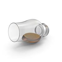 Spilled Glencairn Whisky Glass PNG & PSD Images