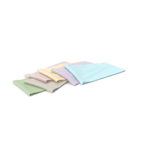Multi Colored Folded Fabrics PNG & PSD Images