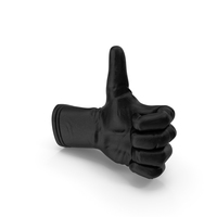 Black Leather Glove Thumbs Up PNG & PSD Images