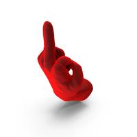 Velvet Glove Giving the Finger PNG & PSD Images