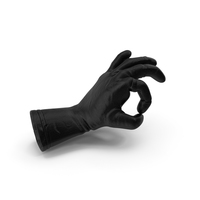 Black Leather Glove Ok Pose PNG & PSD Images