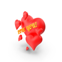 Valentine Hearts PNG & PSD Images