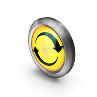 Icon Yellow Round Arrows PNG & PSD Images