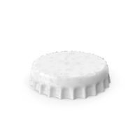 White Bottle Cap With Water Drops PNG & PSD Images