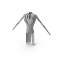 Toon Character White Suit PNG & PSD Images