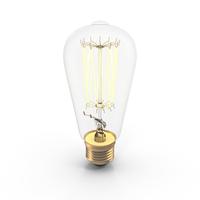 Vintage Light Bulb On PNG & PSD Images
