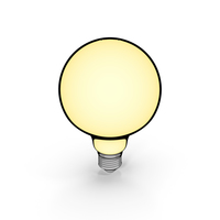Vintage Light Bulb Cartoon PNG & PSD Images