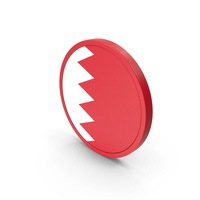 Flag Of Bahrain Icon PNG & PSD Images
