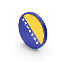 Flag Of Bosnia And Herzegovina Icon PNG & PSD Images