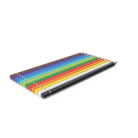 12 Colored Pencils PNG & PSD Images