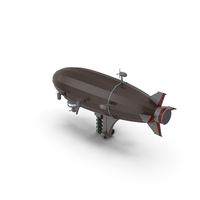 Sci-Fi Zeppelin PNG & PSD Images