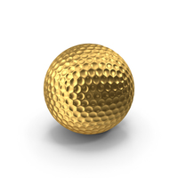 Golf Ball Gold PNG & PSD Images