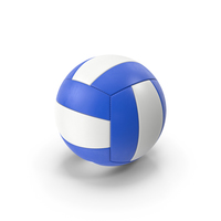 Volleyball White Blue PNG & PSD Images