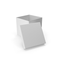White Square Cardboard Box PNG & PSD Images