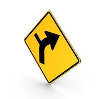 Road Sign Warning Horizontal Alignment PNG & PSD Images