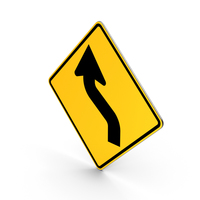 Road Sign Reverse Curve PNG & PSD Images