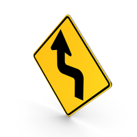 Reverse Turn Road Sign PNG & PSD Images