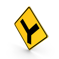 Y Roads Road Sign PNG & PSD Images