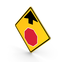 Road Sign Stop Ahead Traffic Control PNG & PSD Images