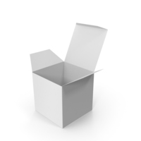 White Square Packaging Box PNG & PSD Images