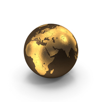 Golden Earth PNG & PSD Images