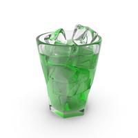 Iced Green Liquid PNG & PSD Images
