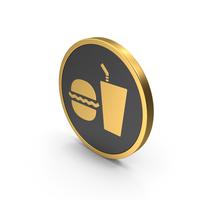 Gold Cafe Sign PNG & PSD Images