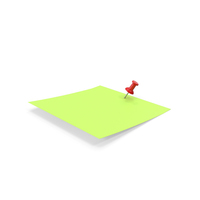 Sticky Notes and Push Pin Green PNG & PSD Images