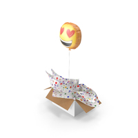 Smile Balloon Gift Box PNG & PSD Images