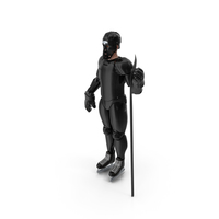 Humanoid Hockey Player With Stick Black PNG & PSD Images