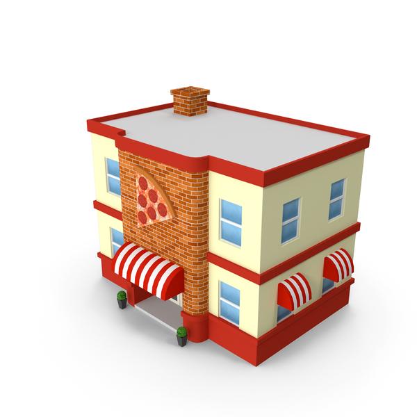 Cartoon Pizza Shop PNG & PSD Images