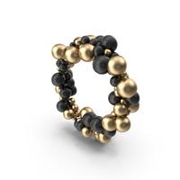 Gold and Black Ballon Circle PNG & PSD Images