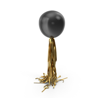Giant Black Balloon with Gold Tassel Garland PNG & PSD Images