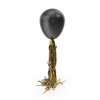 Halloween Black Balloon with Gold Tassel Garland PNG & PSD Images