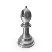 Chess Piece Bishop Silver PNG & PSD Images