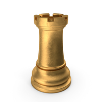 Chess Piece Rook Gold PNG & PSD Images