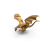 Golden Dragon Lurking PNG & PSD Images