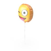 Tongue Out Emoji Ballon PNG & PSD Images