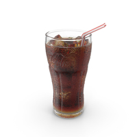 Coca Cola Glass with Droplets PNG & PSD Images