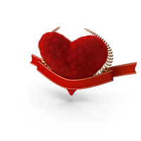 Valentine's Heart Banner PNG & PSD Images