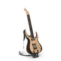 Electric Guitar on Stand PNG & PSD Images