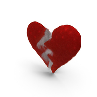 Fluffy Heart Torn PNG & PSD Images