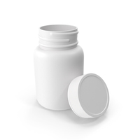 Plastic Bottle Pharma Round 30ml Open PNG & PSD Images