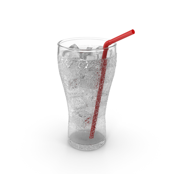 Clear Soda Glass with Droplets PNG & PSD Images