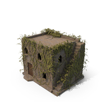 Old Stone house 2 Floors With Ivy PNG & PSD Images