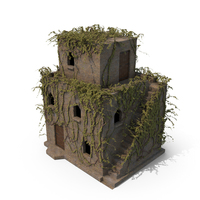 Old Stone House 3 Floors With Ivy PNG & PSD Images