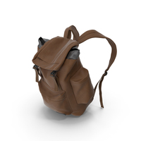 Mens Backpack Brown PNG & PSD Images